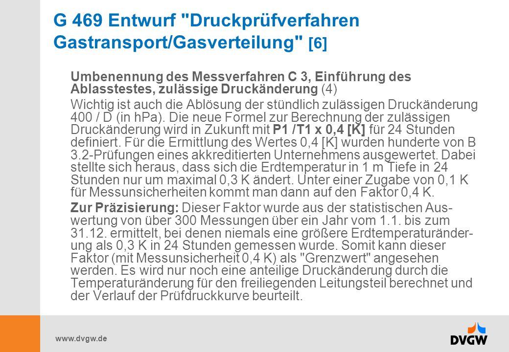 G 469 Entwurf Druckprüfverfahren Gastransport/Gasverteilung [6]